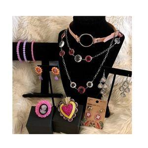💗 10 Piece Pink Necklaces Bracelets Rings 💗